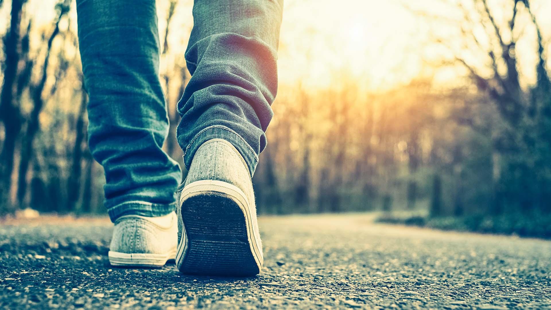 Walking Down Path